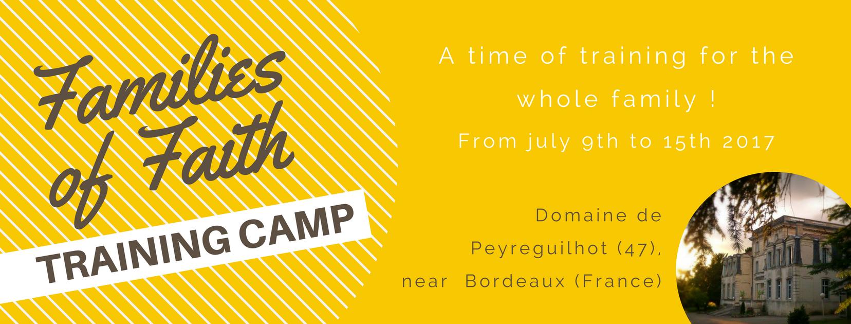bannière Camp Familles de Foi 2017 english