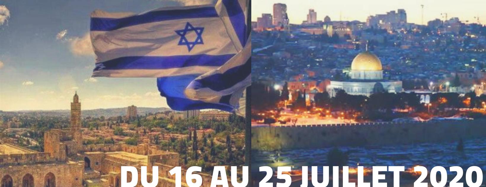 Bannière tournée Israël 2020