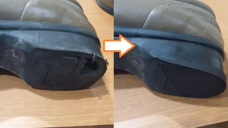 中が空洞になっている靴でもお直し可能です