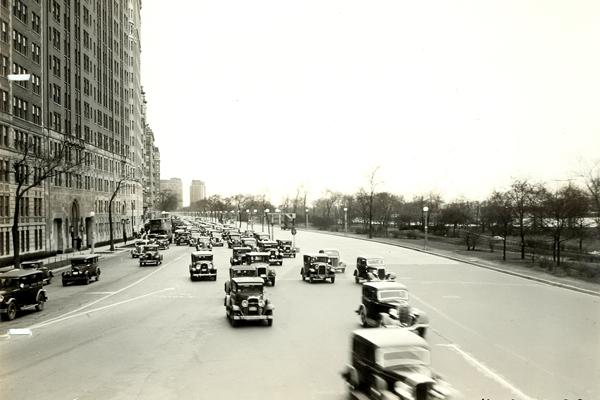 Looking north along Lake Shore Drive - 1935