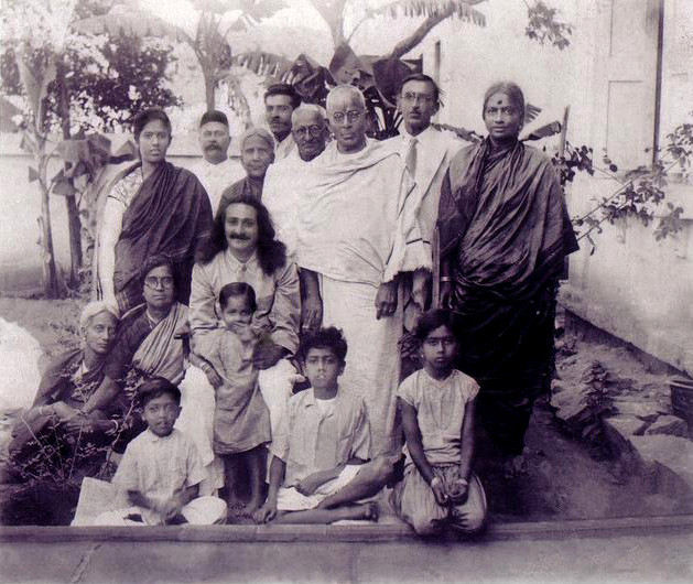 1936 Aiyangar family, Bangalore, India. Chanji standing rear right