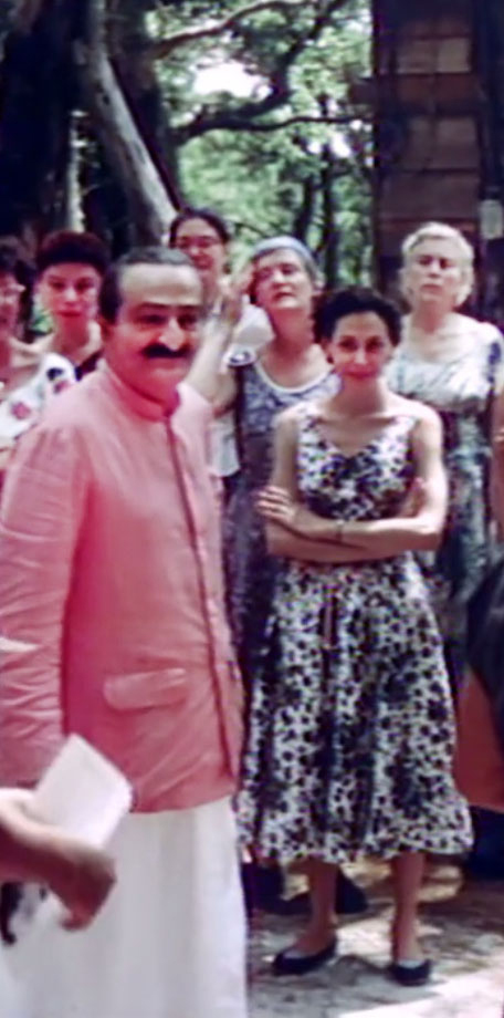 1956 ; Meher Center, Myrtle Beach, SC. ;  Annarosa with Meher Baba. The images were captured by Anthony Zois from a film by Sufism Reoriented.