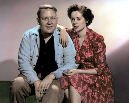 Elsa Lancaster & her husband - Charles Laughton