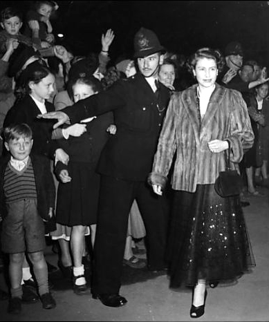 Princess Elizabeth making one of her last appearances before leaving for Canada, at Harringay Arena, London early 1950s
