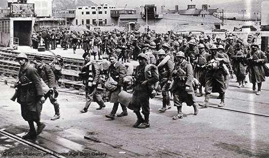 French troops evacuating