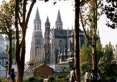 Tsinan-German Church, and located on the campus of Shandong University