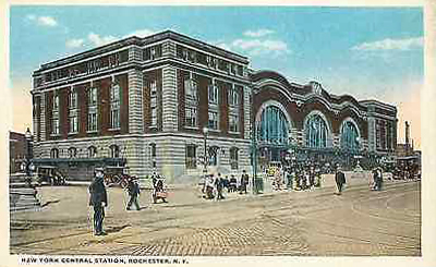 Postcard ; Exterior view of the station