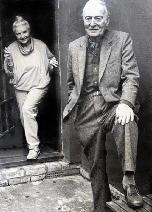 Tom and Dorothy at their home in Oxfordshire. Image courtesy of Laurie Kaye.