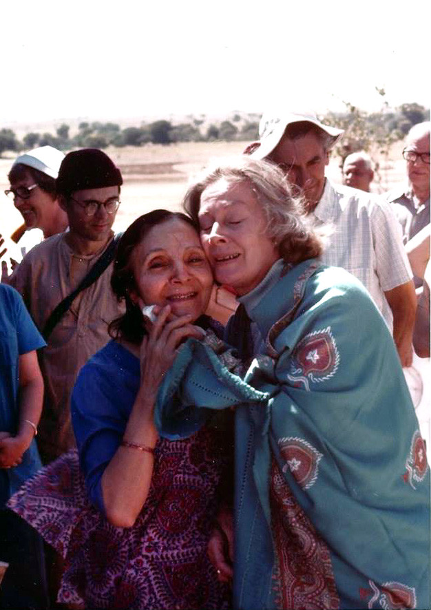 Jane with Mehera Irani in India