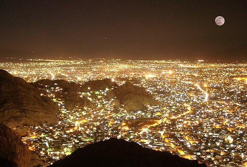 Modern Quetta at night