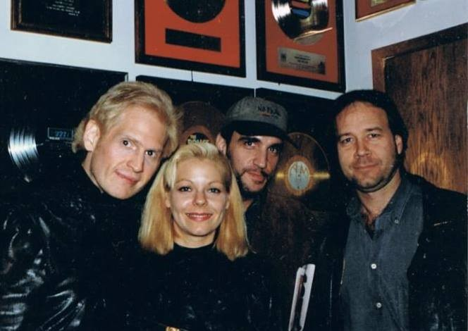 Jon with friends - Raphael Rudd ( far left )