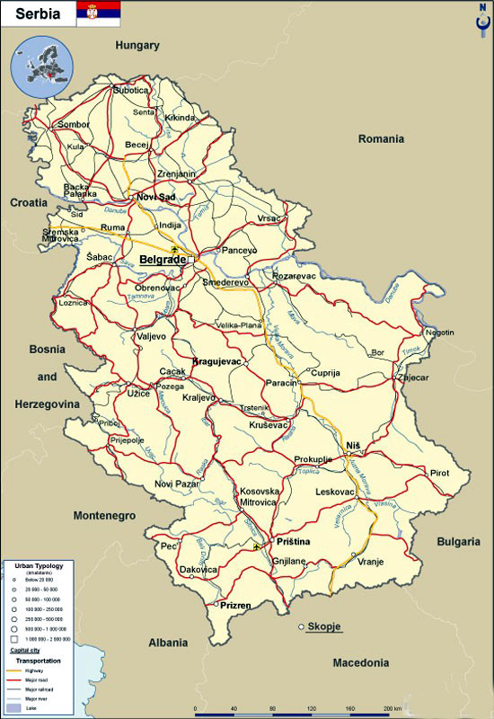 Present day Serbia