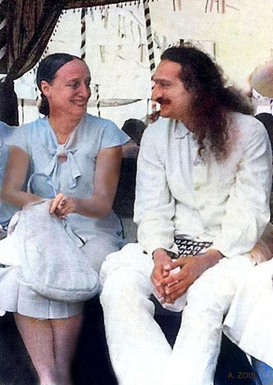 21. 1937 Nasik, India. Meher Baba with Margaret Craske enjoying a moment during his birthday celebrations.