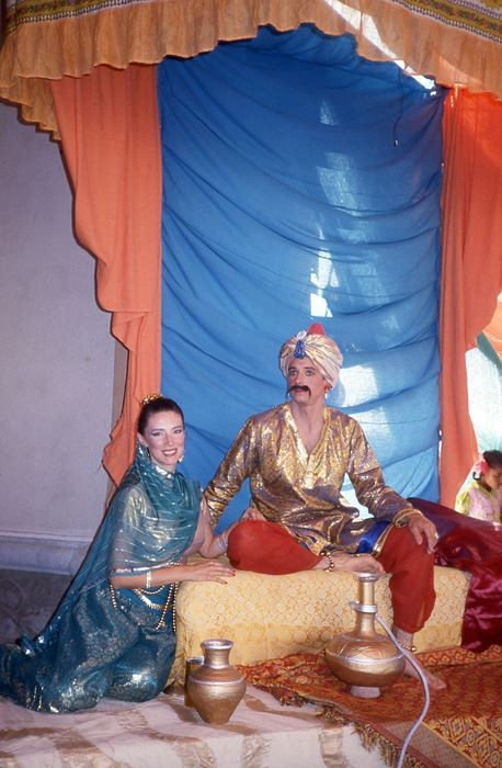 India : Peter & Debbie in a play