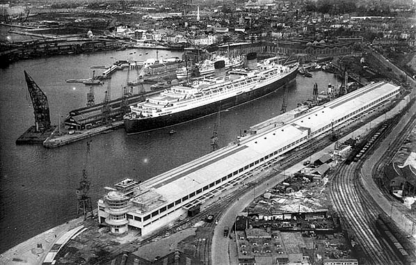 SS Bremen docked in Southampton