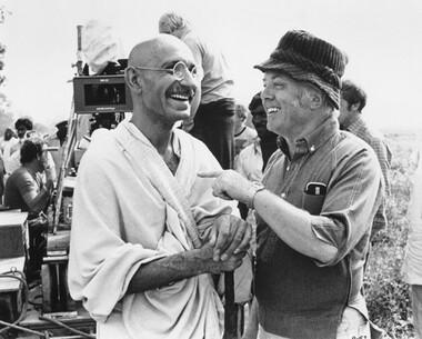Director Sir Richard Attenborough & Ben Kinsley as Gandhi
