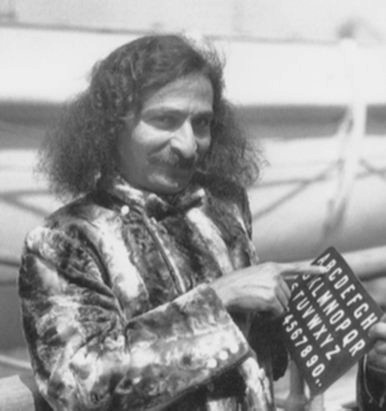 Meher Baba on the S.S. Bremen upon arriving in New York, 1932