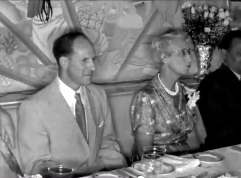 Longchamps Restaurant ; Enid seated next to Darwin Shaw
