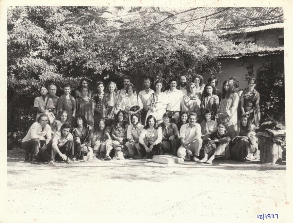 Group Photo at The Trust office December 1977. Michael is seated in the middle of the bottom row.