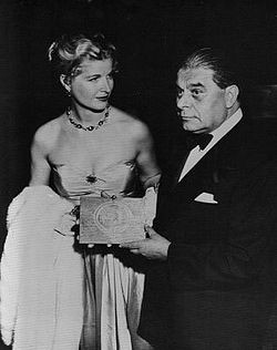 Pascal with his wife Valerie at a reception for Androcles and the Lion in 1952