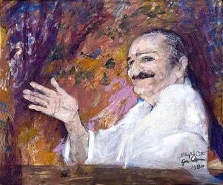 Lyn & Phiyllis painting of Baba.