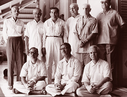 Meher Baba's men mandali - Nariman is far right standing
