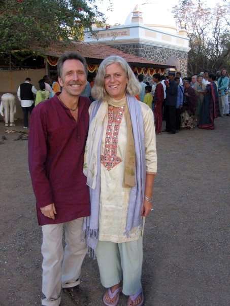 Mark and Lisa at Meher Baba's Samadhi, Meherabad, India