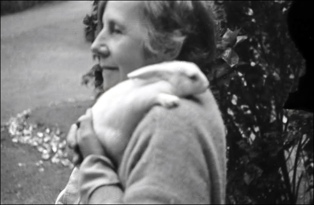 1938 - India : Helen with rabbit