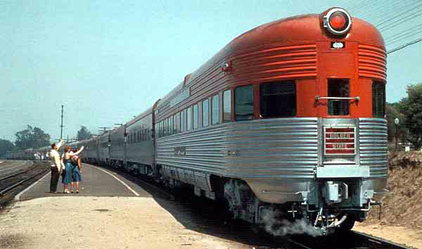 Golden State Limited rear train carriage - 1932