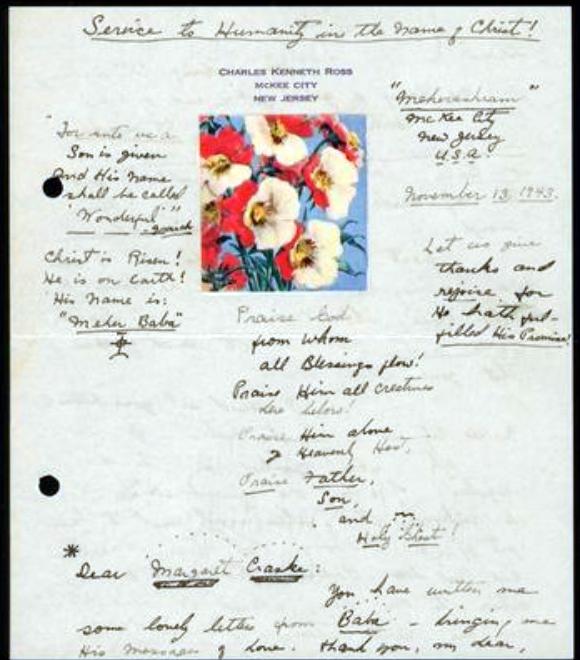 13th Nov.1943 : Letter from Josephine Ross to Margaret