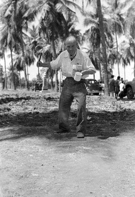 Feb.1954 - Andhra,India ; Playing to the camera  - Courtesy of MN Collection