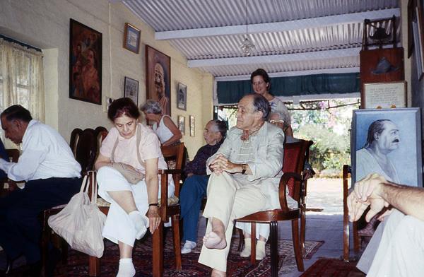 Anita and Roger Veillard in Mandali Hall, Meherazad, India - Courtesy pf Anne Giles