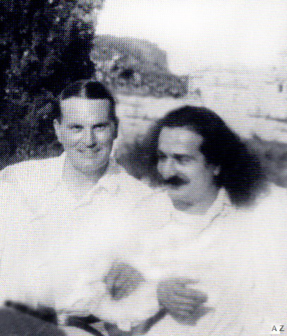 June-July 1933 Portofino : Meher Baba & Herbert Davy relaxing ( cropped image by A. Zois )