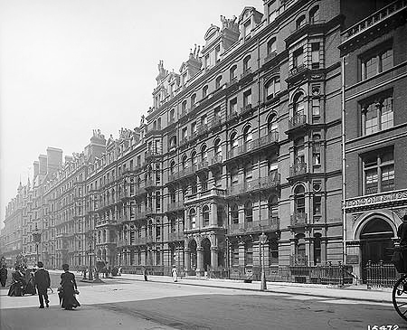 """Princes Mansions - Victoria St Westminster. Courtesy of """"The Builder"""" ( 1886)magazine Vol.51, p.232"""