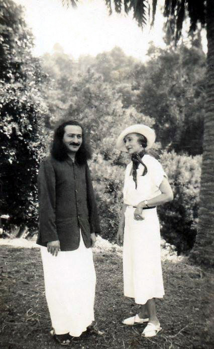 Meher Baba with Norina . Photo courtesy of Charles Haynes.