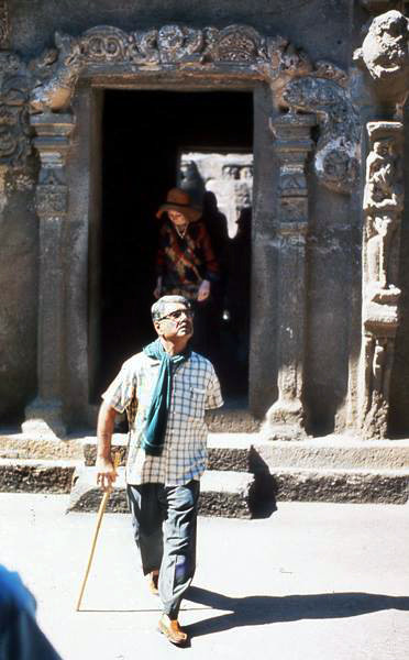 70s ; Eruch giving a guided tour of Ellora