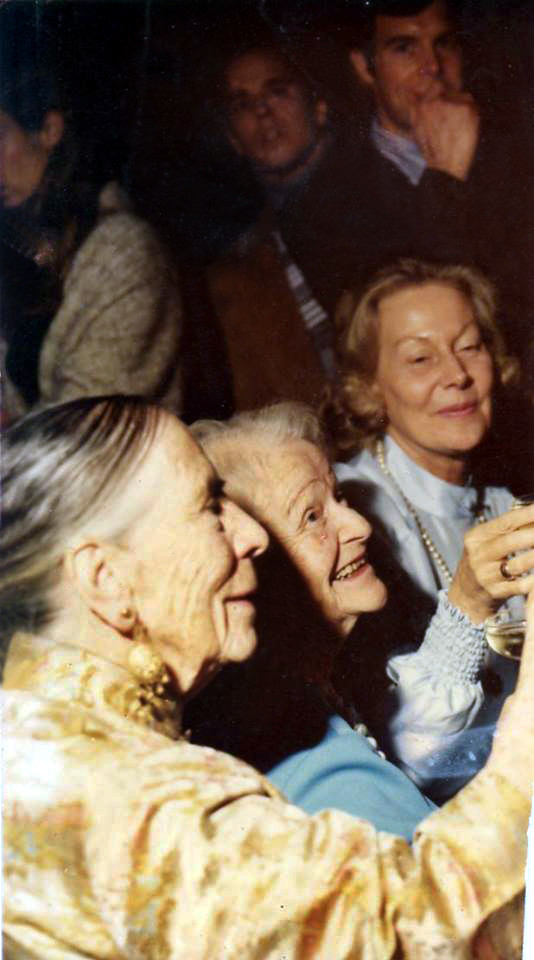 Courtesy of Charles Haynes ; (L-R) Kitty Davy, Elizabrth Patterson & Jane Haynes at the Myrtle Beach Center toasting Richard and Laurie Blum's on their wedding.