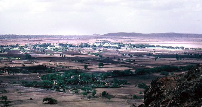 View of Meherazad from Seclusion Hill in the mid-70s. Photo from Anne Giles.