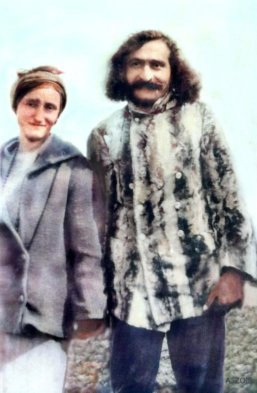 16. April 1932 : Meher Baba & Margaret Craske at East Challacombe, Devon, England.