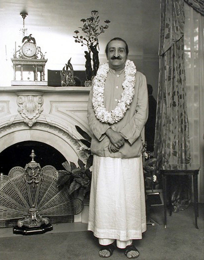 30th July 1956 . Meher Baba at the home of Ivy & terry Duce in Washington D.C.