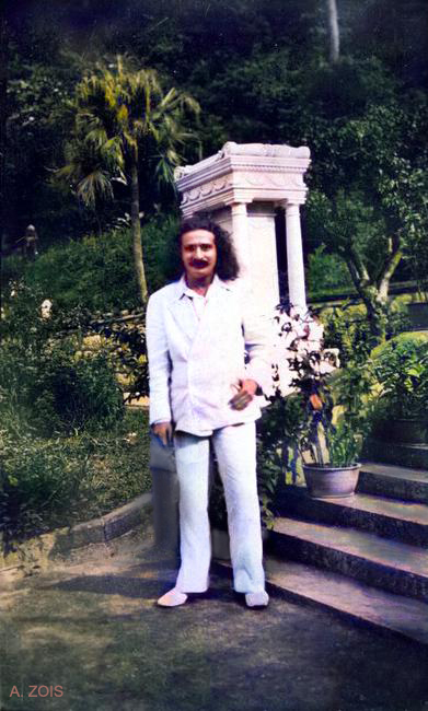 June 1932 : Meher Baba most likely in Nanjing, China. Image colourized by Anthony Zois.