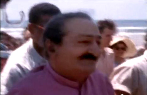 Meher Baba on the beach at the Meher Spiritual Centre,Myrtle Beach, S.C.