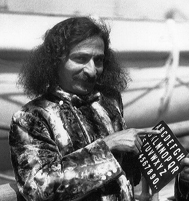 1932 : Meher Baba on the SS Bremen in New York Harbour.