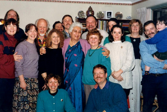 Katie Irani's visit to Melbourne, Australia during the mid 1990s. Picture taken with the local Baba group.