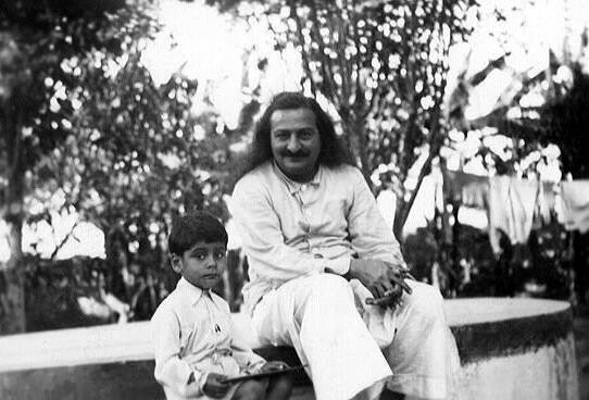 Meherwan Jessawala as a child with Meher Baba