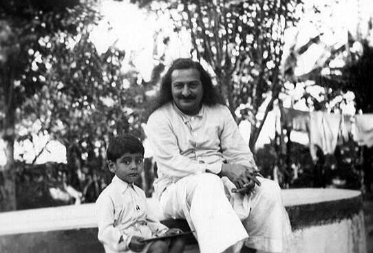 Baba with Freiny & Rustom Irani's son - Jenhangir ( Jangoo )