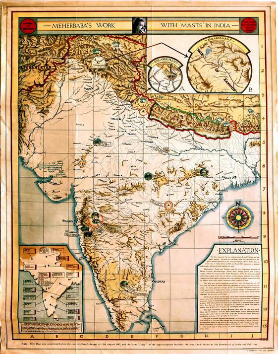 "Map insert from ""The Wayfarers"""