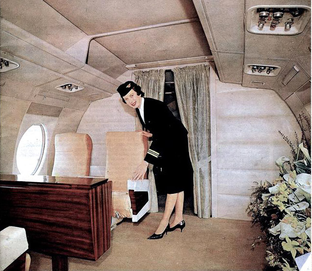Interior of the Vickers Viscount