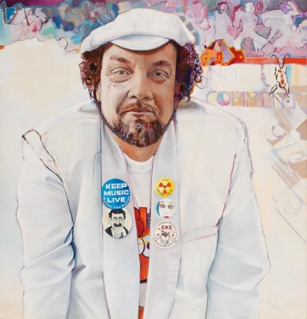 """Adrian Rawlins"" by David Campbell - 1977 ( Portrait entered in the Archibold Art Prize, Australia )"
