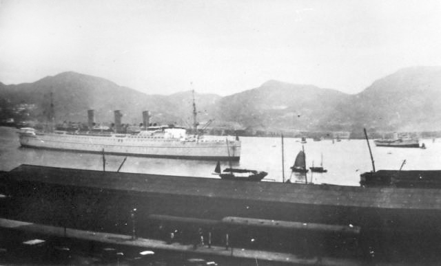 1938 Empress of Canada in Hong Kong